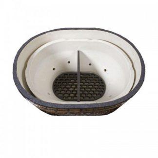 primo grill oval kamado vuur box