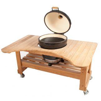 primo grill oval kamado cypres werktafel